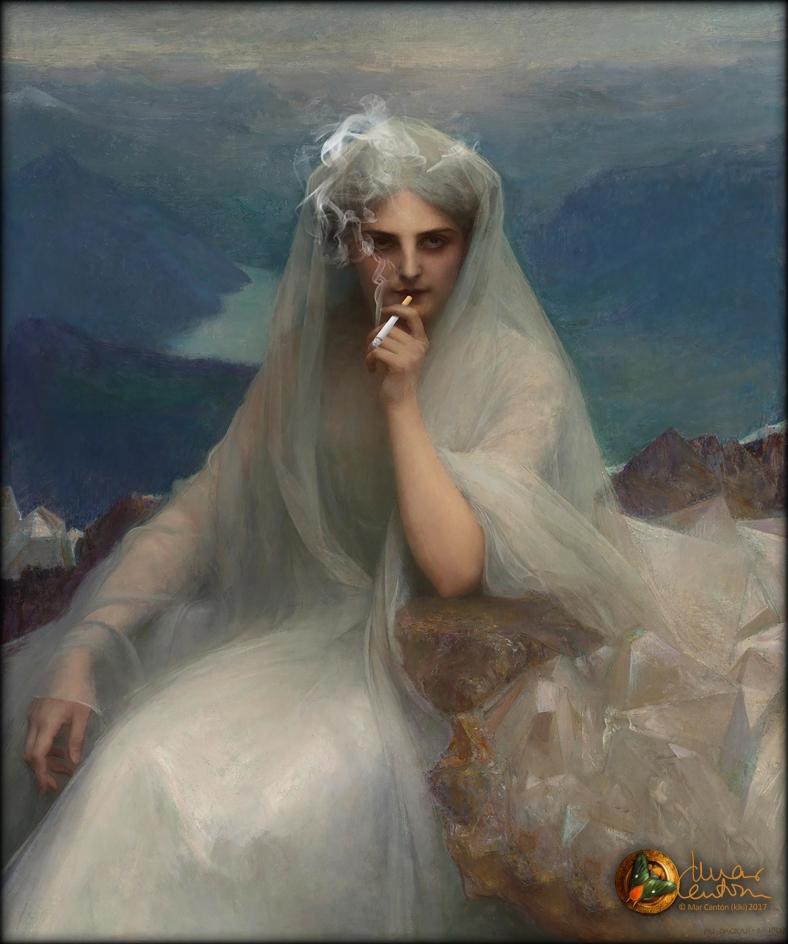 Mar Cantón Quimera Origen Pascal Dagnan-Bouveret Sur les cimes 1903