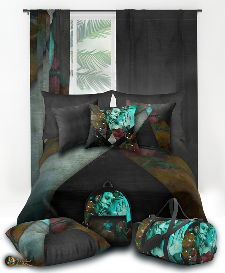 MOntaje grunge-metal-pattern-duvet-covers
